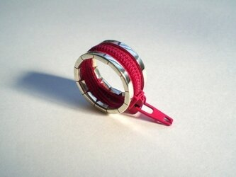 zip ring - redの画像