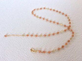 a 1308 オレンジムーンストーンのネックレスの画像