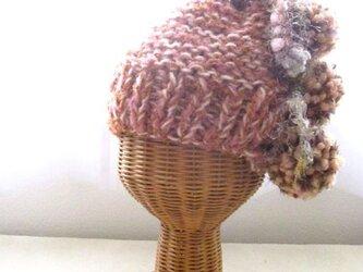 2wayボンボン帽 HBB1339の画像