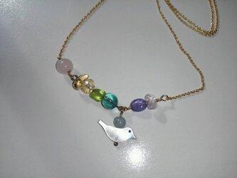 【受注生産】K14gf Rainbow birdネックレスの画像