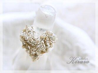 天然ダイヤモンド原石 ハートリング  SV925製の画像