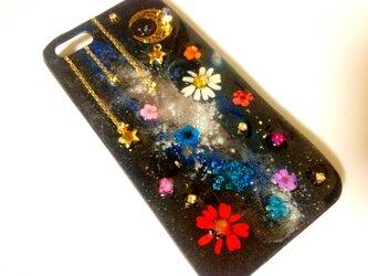 R様オーダー♪宇宙と花のIPHONE5/5sケースの画像