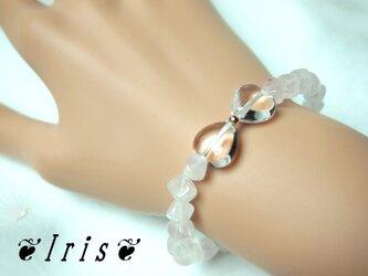 パワーストーンブレス【ribbon・ローズクォーツ&水晶】の画像
