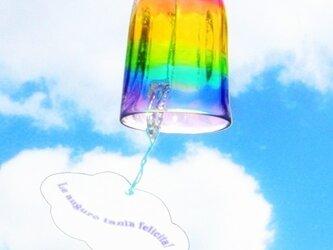 虹色ガラスの風鈴の画像