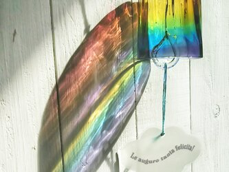 虹色ガラスの風鈴☆ご注文前にメッセージをお願いいたしますの画像
