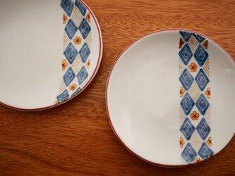 小花紋様 ちいさいお皿  2枚組の画像