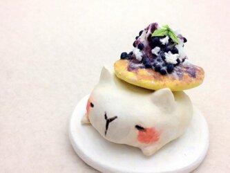 パンケーキアニマル添え ネコの画像