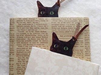 黒猫クーちゃんのブックマーク【栞】の画像