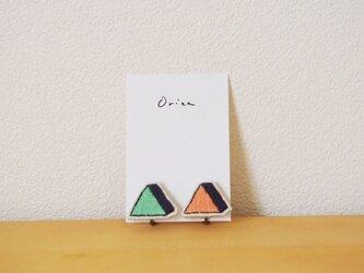 triangle green orangeの画像