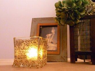 キャンドルグラス ゴールド-L sizeの画像