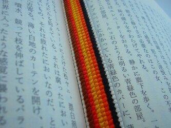 紅葉色のなめらか刺繍しおり  【送料無料】の画像