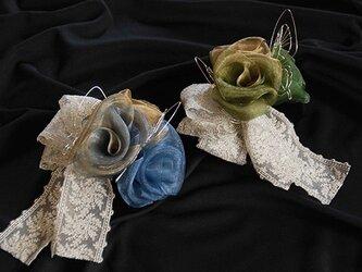 蝶と薔薇のヘッドドレスの画像