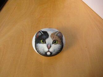 石のピルケース(三毛猫)の画像