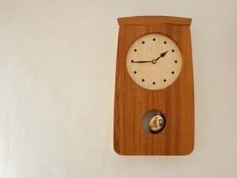 チークの振り子時計 再販の画像