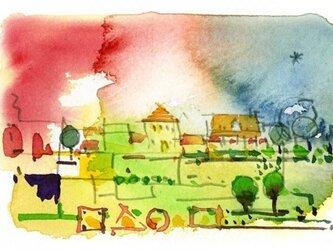 村の朝その2の画像