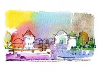 村の午後の画像