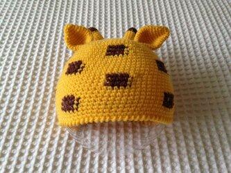 アニマル・ニット帽(キリン)の画像