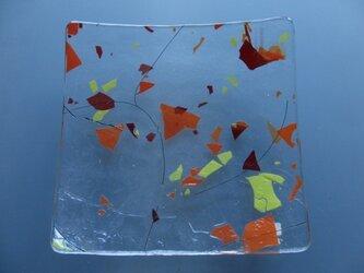 ガラスプレート 午後の散歩(オレンジ)の画像