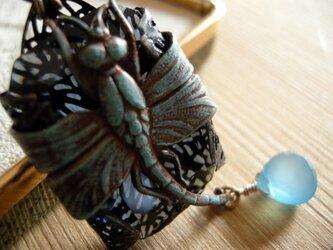 【ヴィンテージ】アールヌーヴォースタイル:蜻蛉のペンダントの画像