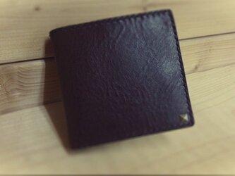 二つ折り財布 オイルレザーの画像
