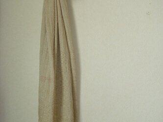 <手織り>ストール*緑綿の画像