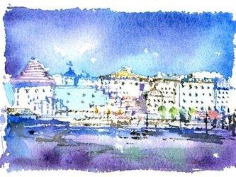 青い港町の画像