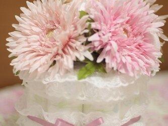 おむつケーキ【1段・ピンク】の画像