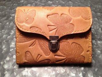 差し込み金具のミニ財布の画像
