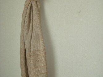 <手織り>ストール*茶綿の画像