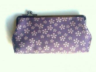 浅紫 シルク 西陣織 長財布の画像