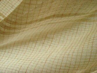 <手織り>ストール*格子の画像