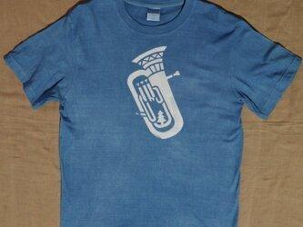 【sale】草木染め/コラボTシャツ/半袖ユニセックスS/楽器の画像
