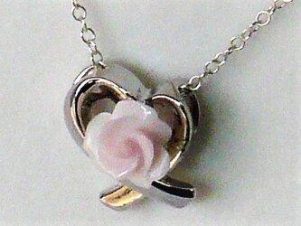【コンクパール】カービング薔薇シルバートップの画像