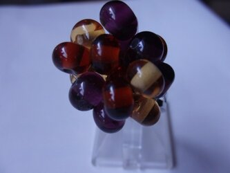 ガラスのリング(フルーツ トパーズ×アメジスト)の画像