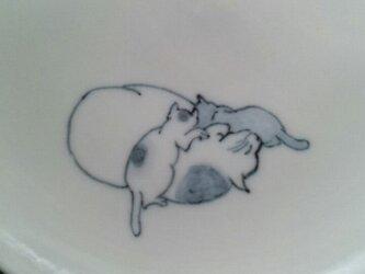 染付5寸猫皿6の画像