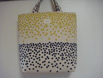 2色のドットバッグの画像