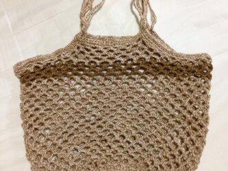 手編み ネットバッグの画像