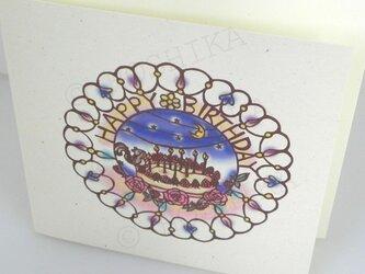 ハッピーバースディ, ケーキ, カード6枚セットの画像