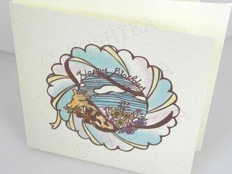 ハッピーバースディ, 花畑, カード6枚セットの画像