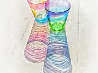 夕陽と宵のグラスセット☆ご注文前にメッセージをお願い致しますの画像