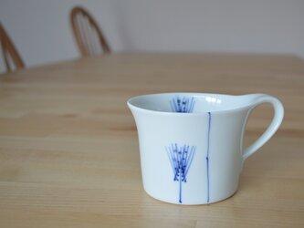 フラワーライン 麦 マグカップの画像