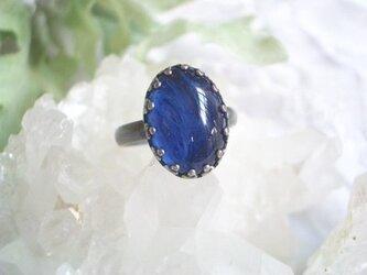 藍の揺らめきリングの画像