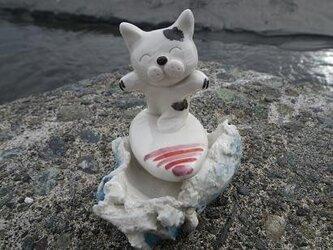 波乗り猫②の画像