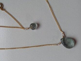 K14gf モスアクアマリン ネックレスの画像