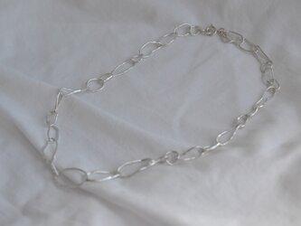 再販 銀の手作りチェーンのネックレス CH-7の画像