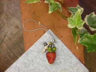 苺(イチゴいちご)のストラップの画像