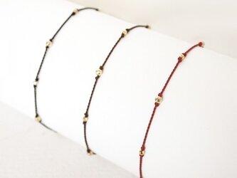 K10 Mirrorball Cord Braceletの画像