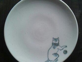 染付4寸猫皿 4の画像