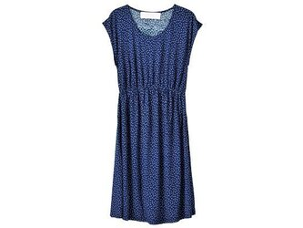 shirred one-piece dots patternの画像