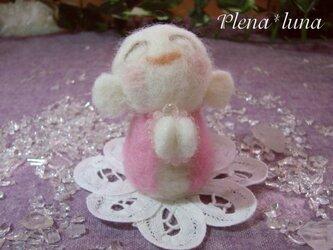 こ地蔵さん ピンクM001WH(ローズクオーツ)の画像